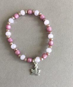 Armband beere rosa Lotusblüte