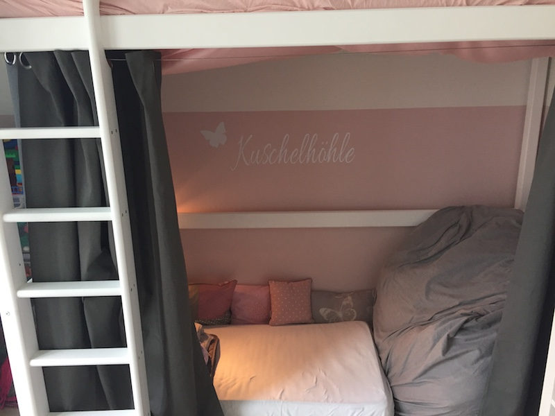 Hochbett Kuschelhöhle Mädchenzimmer Sternenhimmel