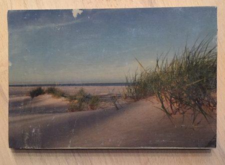 Holzbild Strand Dünengras Bornholm
