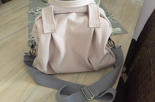 Softshell Tasche rosa grau