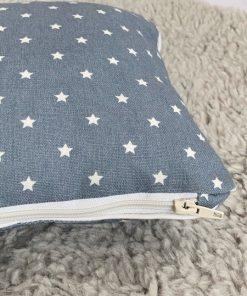 Kissen Sterne jeansblau 25x25 Reißverschluss