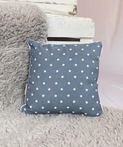 Kissen Sterne jeansblau 25x25 vorne