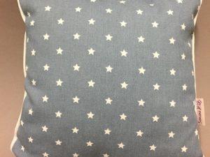 Kissen jeansblau klein Sterne