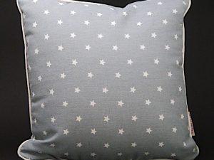 Kissen Sterne grau 25x25