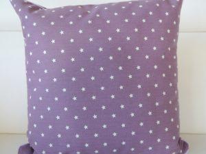 Kissen Sterne lila 40x40