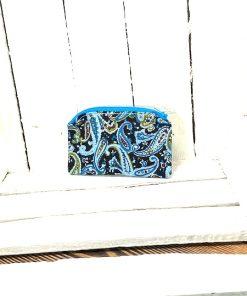 Täschchen Kravattenmuster dunkelblau