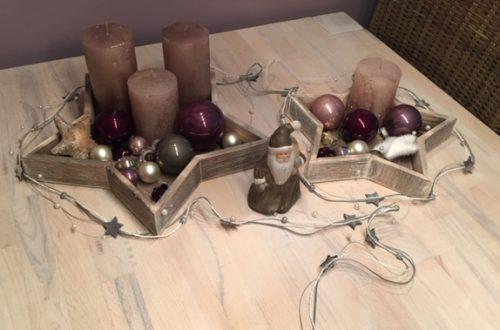 Weihnachtsdekoration Sterne Adventskranz mal anders