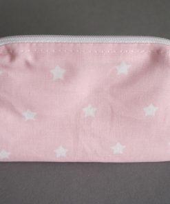 kleines Täschchen rosa mit weißen Sternen